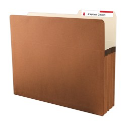 """Smead® Redrope Easy-Access Top-Tab File Pockets, 10"""" x 11 3/4"""", Letter Size, 3 1/2"""" Expansion, 30% Recycled, Pack Of 25"""