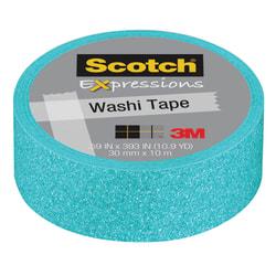"Scotch® Expressions Glitter Tape, 0.59"" x 196"", Pastel Blue"