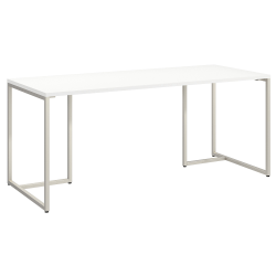 "kathy ireland® Office by Bush Business Furniture Method Table Desk, 72""W, White, Standard Delivery"