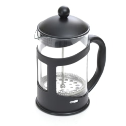 "Mind Reader 3.4-Cup Glass French Press, 8 1/4""H x 6 13/16""W x 4""D, Black"