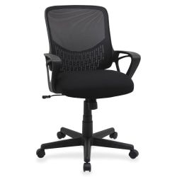 Lorell® Value Collection Mesh/Fabric Task Chair, Black