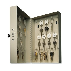 STEELMASTER® 28-Key Hook-Style Key Cabinet With Combination Lock, Sand