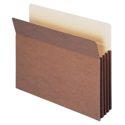 """Smead® TUFF® Pocket File Pockets, 3 1/2"""" Expansion, 9 1/2"""" x 11 3/4"""", 30% Recycled, Dark Brown, Pack Of 10"""