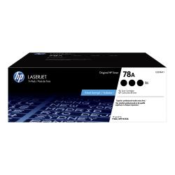 HP 78A Black Toner Cartridges (CE278AT1), Pack Of 3 Cartridges