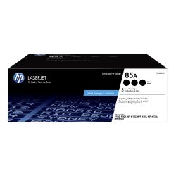 HP 85A Black Toner Cartridges (CE285AT1), Pack Of 3 Cartridges