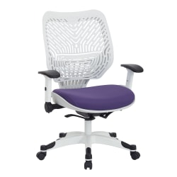 Office Star™ Self-Adjusting Mid-Back Mesh Managers Chair, Purple