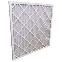 """Tri-Dim HVAC Pleated Air Filters With Antimicrobial Protection, Merv 8, 20"""" x 20"""" x 1"""", Case Of 12"""