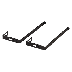 OIC® Adjustable Partition Hangers, Black, Pack Of 2