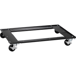 "Lorell Commercial Cabinet Dolly - Metal - x 42"" Width x 24"" Depth x 4"" Height - Black - 1 Each"