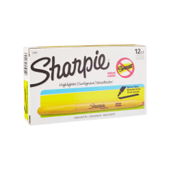 Sharpie® Accent® Pocket Highlighters, Yellow, Box Of 12