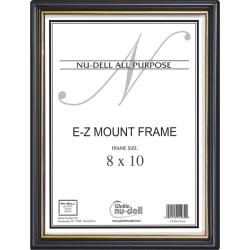 "Nu-Dell EZ Mount Plastic Wall Frame - Holds 8"" x 10"" Insert - Wall Mountable - 1 Each - Plastic - Black, Black"