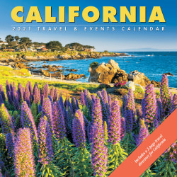 """Willow Creek Press Scenic Monthly Wall Calendar, 12"""" x 12"""", FSC® Certified, California, January to December 2021, 11058"""