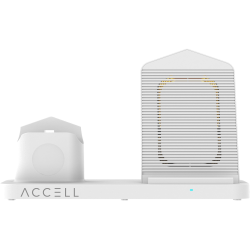 Accell Power - 3 in 1 Fast Wireless Charger - 5 V DC Input - Input connectors: USB