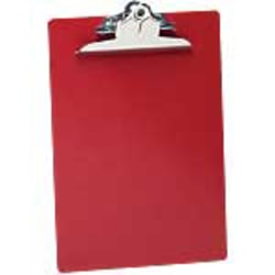 "Saunders® Plastic Clipboard, 8 1/2"" x 12"", Red"