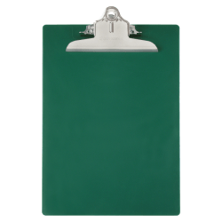 """Saunders® 96% Recycled Antibacterial Clipboard With Hanging Hole, 13 1/4""""H x 9""""W x 1 3/4""""D, Letter, Green"""