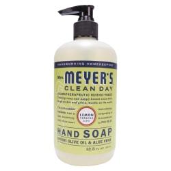 Mrs. Meyer's Clean Day Liquid Hand Soap, Lemon Scent, 12.5 Oz, Carton Of 6 Bottles
