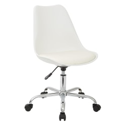 Ave Six Emerson Mid-Back Chair, White/Silver