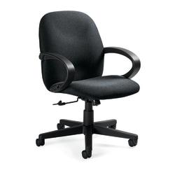 "Global® Enterprise Low-Back Tilter Chair, 39""H x 24 1/2""W x 26 1/2""D, Graphite/Black"