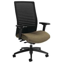 "Global® Loover High-Back Weight-Sensing Synchro Chair, 42""H x 25 1/2""W x 24""D, Beach Day/Black"