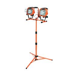 Southwire Twin-Head Telescoping Double-Halogen Flood Light, 1,000 Watt, Orange