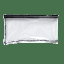 "MMF Industries Clear View Vinyl Zipper Wallet Bag, 6"" x 11"", Clear"