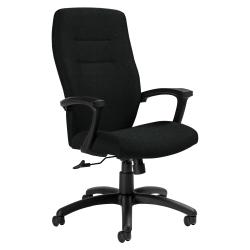 "Global® Synopsis High-Back Chair, 43 1/2""H x 24 1/2""W x 26 1/2""D, Black Coal/Black"