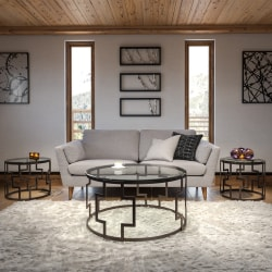 Flash Furniture Frostline 3-Piece Occasional Table Set, Bronze