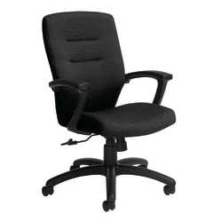 "Global® Synopsis Mid-Back Chair, 39 1/2""H x 24 1/2""W x 26 1/2""D, Black Coal/Black"