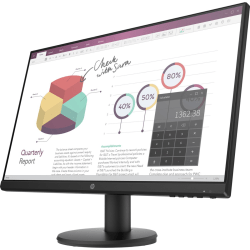 """HP P24v G4 23.8"""" Full HD LED LCD Monitor - 16:9 - Black - 24"""" Class - In-plane Switching (IPS) Technology - 1920 x 1080 - 250 Nit Typical - 5 ms GTG (OD) - 60 Hz Refresh Rate - HDMI - VGA"""