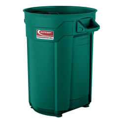 Suncast Commercial® Round HDPE Utility Trash Can, 44 Gallon, Green