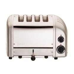 Dualit® New Gen 4-Slice Extra-Wide-Slot Toaster, Metallic Silver