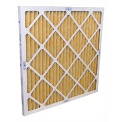 "Tri-Dim Pro HVAC Pleated Air Filters, Merv 11, 14"" x 25"" x 1"", Case Of 12"