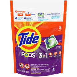 Tide® 3 1 Pods Laundry Detergent, 31 Oz Bottle, Case Of 35