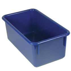 """Stowaway® Storage Container, No Lid, 5 1/2""""H x 8""""W x 13 1/2""""D, Blue, Pack Of 5"""