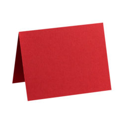 "LUX Folded Cards, A1, 3 1/2"" x 4 7/8"", Ruby Red, Pack Of 1,000"
