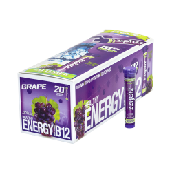 Zipfizz Healthy Energy Dietary Supplement Mix, Grape, Pack Of 20