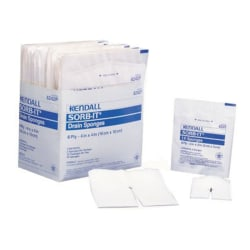"""Covidien SORB-IT™ Drain And IV Sponges, Sterile, 2"""" x 2"""", 6-Ply, Pack Of 70"""
