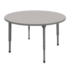 """Marco Group™ Apex™ Series Round Adjustable Tables, 30""""H x 48""""W x 48""""D, Gray Nebula/Gray"""