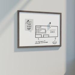 "U Brands Décor Magnetic Dry Erase Board, 36"" X 24"", Brown Rustic MDF Decor Frame"