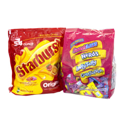 Starburst/Nestlé® SWEET-BURST Chewy And Hard Candy Party Assortment, 102.4 Oz, Pack Of 2 Bags