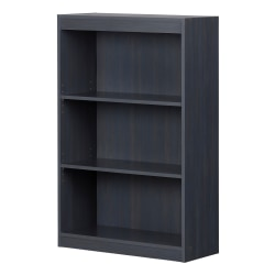 "South Shore Axess 43-1/4""H 3-Shelf Bookcase, Blueberry"