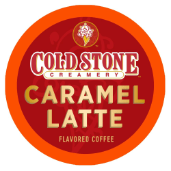Cold Stone Creamery Caramel Latte Coffee Single-Serve K-Cup®, 0.35 Oz, Carton Of 24