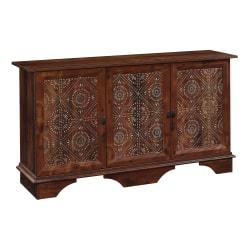"Sauder® Viabella 60""W Storage Cabinet, Curado Cherry/Graphic Tile"