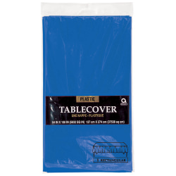 "Amscan Plastic Table Covers, 54"" x 108"", Royal Blue, Pack Of 9 Table Covers"