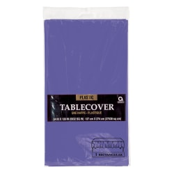 "Amscan Plastic Table Covers, 54"" x 108"", Purple, Pack Of 9 Table Covers"