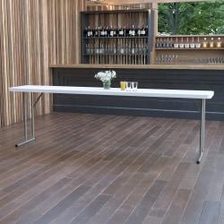 """Flash Furniture Plastic Folding Training Table, 29""""H x 18""""W x 96""""D, Granite White"""