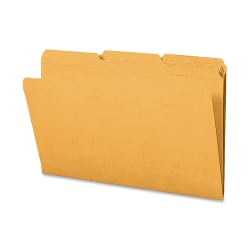 Smead® 1/3-Cut 2-Ply Color File Folders, Legal Size, Goldenrod, Box Of 100