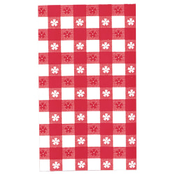"""Amscan Plastic Table Covers, 54"""" x 108"""", Red, Pack Of 9 Table Covers"""