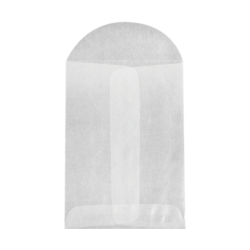 """LUX Open-End Coin Envelopes With Flap Closure, #1, 2 1/4"""" x 3 1/2"""", Glassine, Pack Of 250"""