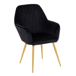 LumiSource Shelton Chair, Black/Gold